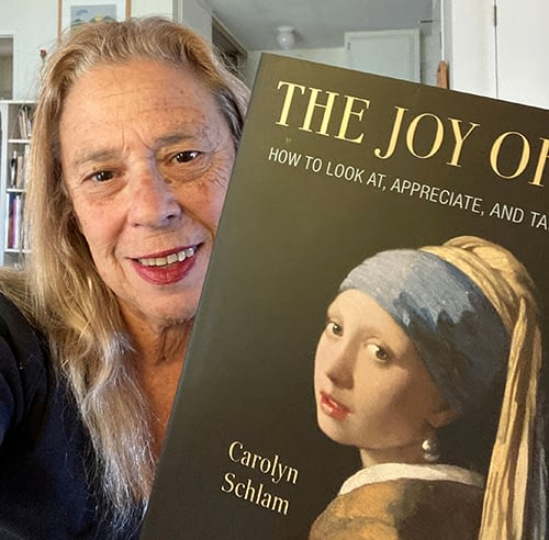 Carolyn with her book The Joy of Art